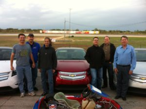 Group shot of the teams on the track